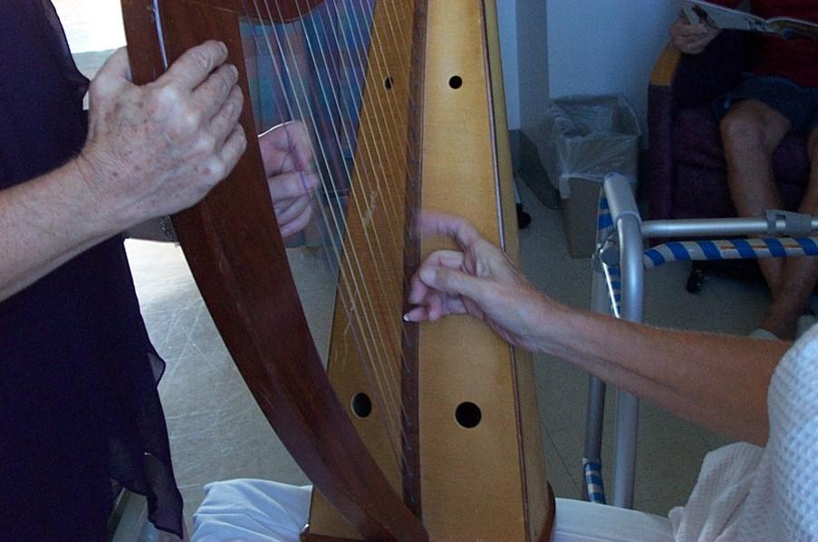 Hands on harp